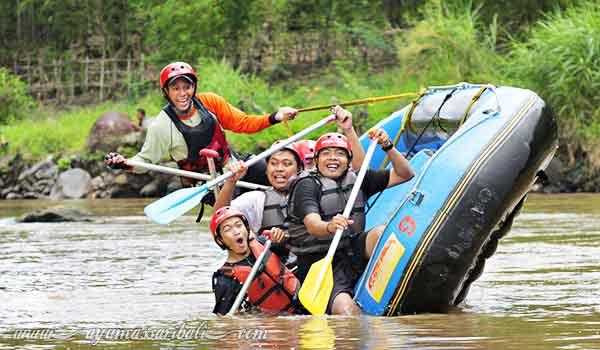 rafting sungai elo magelang jawa tengah